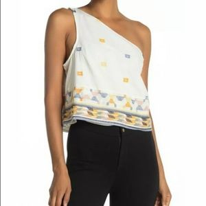 FREE PEOPLE Bali Baby Asymmetrical Tank Small NWT